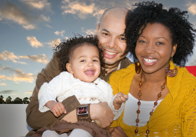 African-American couple with their daughter